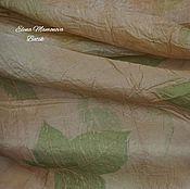 Аксессуары ручной работы. Ярмарка Мастеров - ручная работа Шелковый шарф Весенний, шарф шелковый экопринт. Handmade.