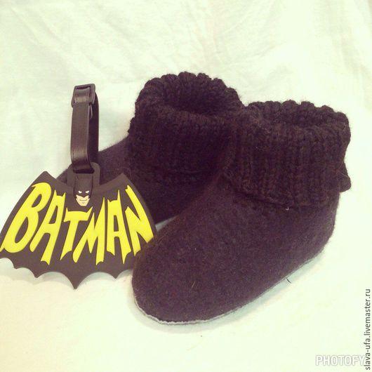 Детская обувь ручной работы. Ярмарка Мастеров - ручная работа. Купить Пинетки для супергероев. Handmade. Бордовый, пинетки, натуральная кожа