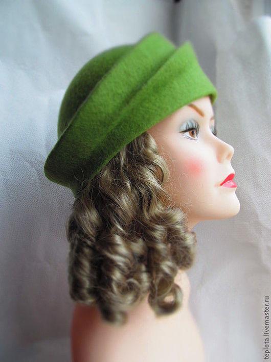 """Шляпы ручной работы. Ярмарка Мастеров - ручная работа. Купить шляпка валяная """" В ожидании весны"""". Handmade."""