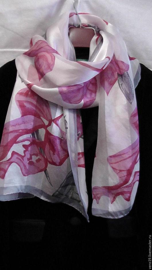 Винтажная одежда и аксессуары. Ярмарка Мастеров - ручная работа. Купить Шёлковый шарф JL.Германия. Handmade. Розовый, винтажный шарф