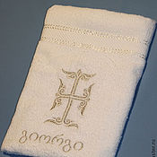 Работы для детей, handmade. Livemaster - original item Georgian towel inscribed