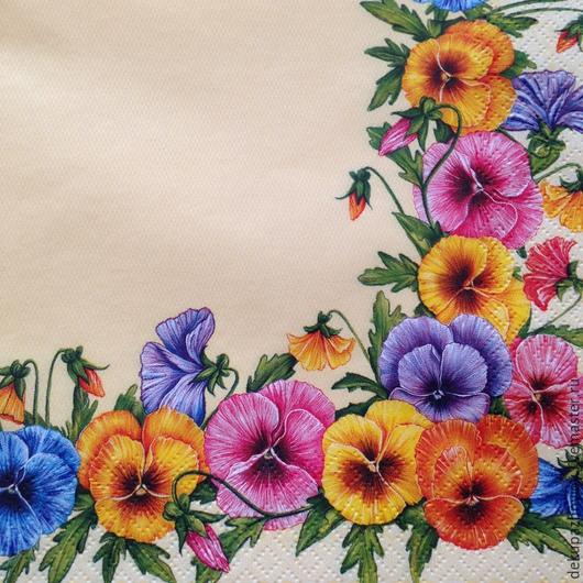 Яркие летние цветочки Декупажная радость