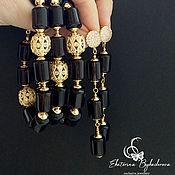 Украшения handmade. Livemaster - original item Set of earrings and a bracelet with rauchtopaz