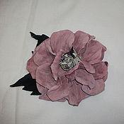 Аксессуары ручной работы. Ярмарка Мастеров - ручная работа цветы  из  кожи. Handmade.