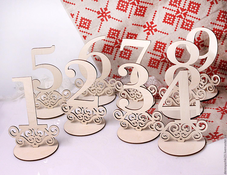 Номерки для столов своими руками Красивая Свадьба 83