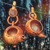 """Посуда ручной работы. Ярмарка Мастеров - ручная работа Чайник и сливник """"Чайные цепи"""". Handmade."""