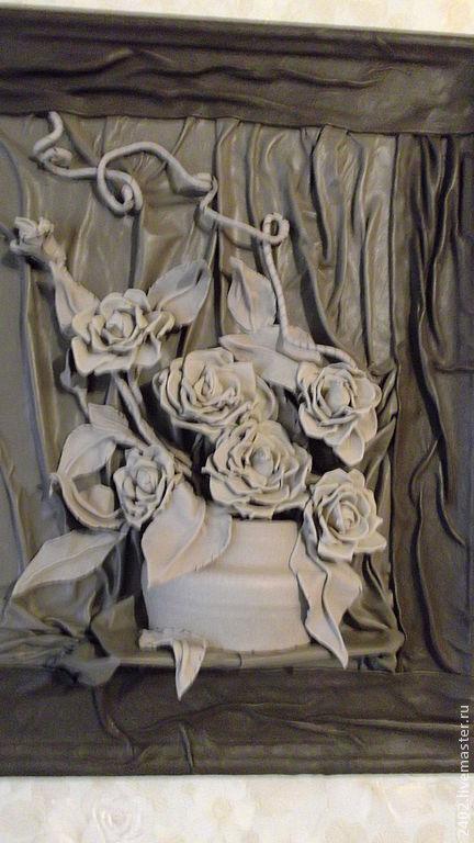 """Картины цветов ручной работы. Ярмарка Мастеров - ручная работа. Купить Натуральная кожа Картина из кожи """" Нежность"""". Handmade."""