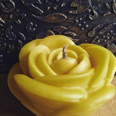 Для дома и интерьера ручной работы. Ярмарка Мастеров - ручная работа Свеча роза. Handmade.