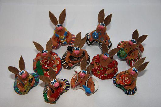 Куклы и игрушки ручной работы. Ярмарка Мастеров - ручная работа. Купить Зайцы - Кролики. Handmade. Бежевый, стразы