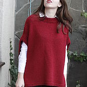 "Одежда handmade. Livemaster - original item Women`s knitted vest ""Winter cherry"". Handmade."