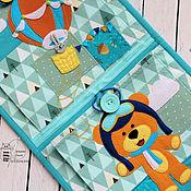 Органайзер ручной работы. Ярмарка Мастеров - ручная работа Органайзеры: кармашки для детского сада + коврик. Handmade.