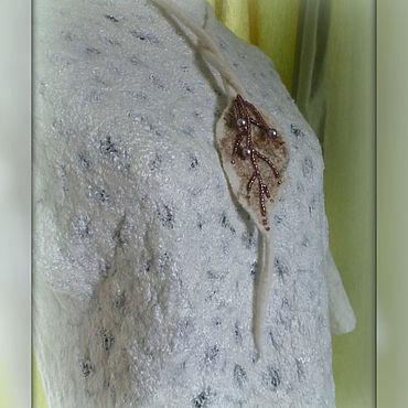 Clothing handmade. Livemaster - original item Textured white jacket.. Handmade.
