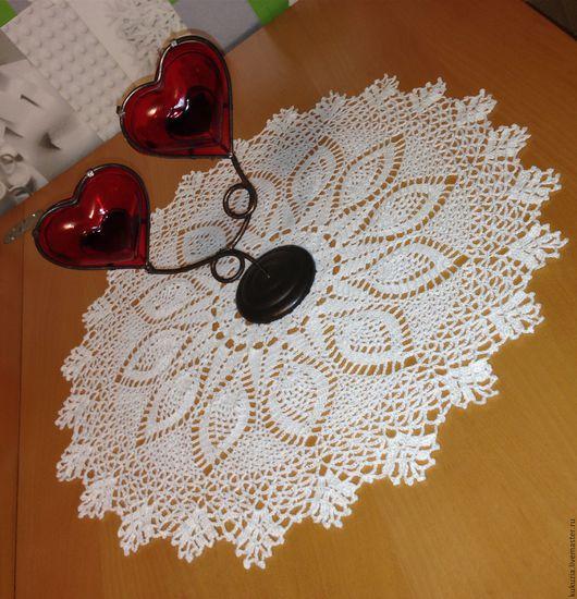 Текстиль, ковры ручной работы. Ярмарка Мастеров - ручная работа. Купить Салфетка крючком 45 см, можно в другом цвете. Handmade.