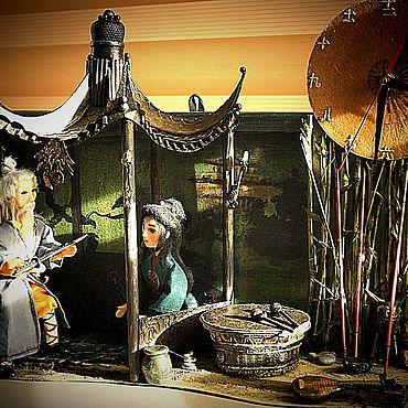 Куклы и игрушки ручной работы. Ярмарка Мастеров - ручная работа Часы-миниатюра Восток. Handmade.