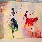 Картины ручной работы. Ярмарка Мастеров - ручная работа Балерины. Handmade.