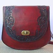Сумки и аксессуары handmade. Livemaster - original item bag leather embossed poppy. Handmade.