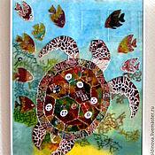 Для дома и интерьера handmade. Livemaster - original item stained glass Turtle. Handmade.