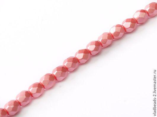 Для украшений ручной работы. Ярмарка Мастеров - ручная работа. Купить Бусины 4мм чешские стеклянные Alabaster Pastel Light Coral. Handmade.