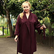 "Одежда handmade. Livemaster - original item Knitted cardigan ""Luxury Bordeaux"" extended. Handmade."