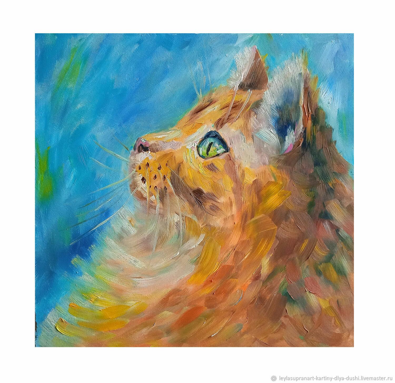 Картина маслом Рыжий кот, Картины, Чита,  Фото №1