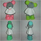 """Косметика ручной работы. Ярмарка Мастеров - ручная работа мыло мишка """" Тедди в наушниках"""". Handmade."""
