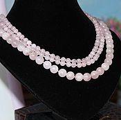 Necklace handmade. Livemaster - original item Necklace long rose quartz. Handmade.