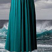 """Одежда ручной работы. Ярмарка Мастеров - ручная работа Юбка из вискозы длинная """"Волна"""". Handmade."""