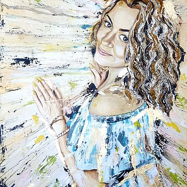Картины и панно ручной работы. Ярмарка Мастеров - ручная работа Картины: портрет на заказ. Handmade.