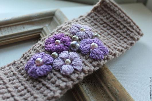 Повязки ручной работы. Ярмарка Мастеров - ручная работа. Купить красивая повязка на голову Лаванда. Handmade. Бежевый, повязка, дизайнерская