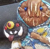 Украшения ручной работы. Ярмарка Мастеров - ручная работа Бабайка, брошь-персонаж, авторская кукла, грунтованный текстиль. Handmade.