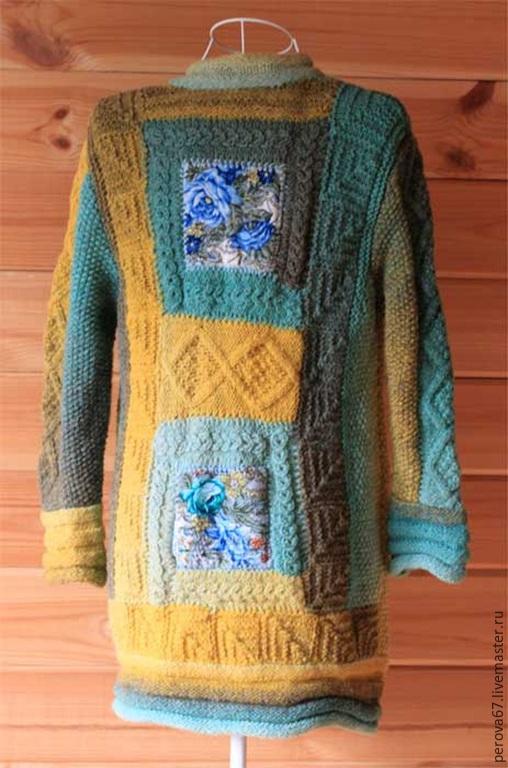 Кофты и свитера ручной работы. Ярмарка Мастеров - ручная работа. Купить Кофта женская из пряжи Дундага Мятно-солнечная. Handmade.