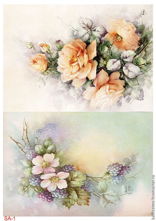 Цветы декупаж