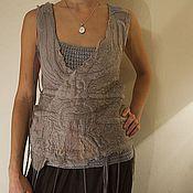 """Одежда ручной работы. Ярмарка Мастеров - ручная работа Женская майка """"Дымка"""". Handmade."""