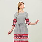 Одежда handmade. Livemaster - original item Linen dress Shambala in Russian style. Handmade.