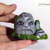 """Куклы и игрушки ручной работы. Ярмарка Мастеров - ручная работа Каменный дух """"Злой"""" миниатюра (Лесной дух). Handmade."""