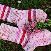 Носки ручной работы. Ярмарка Мастеров - ручная работа Носки: Розовое суфле. Handmade.