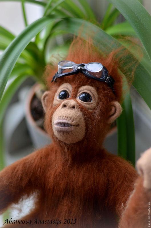 Игрушки животные, ручной работы. Ярмарка Мастеров - ручная работа. Купить Орангутанг.. Handmade. Рыжий, обезьянка ручной работы
