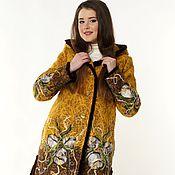 Одежда ручной работы. Ярмарка Мастеров - ручная работа Куртка теплая  Шафран. Handmade.