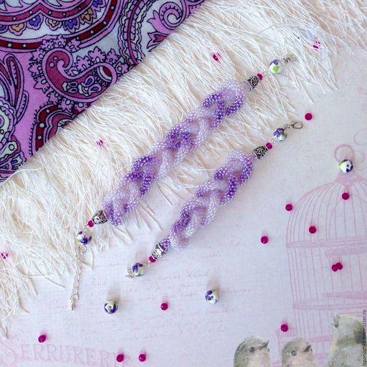Браслеты ручной работы. Ярмарка Мастеров - ручная работа. Купить Пара браслетов из бисера в стиле Family Look для мамы и дочки. Handmade.