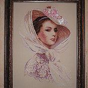 """Картины и панно ручной работы. Ярмарка Мастеров - ручная работа Вышитая картина """"Сиреневый вечер"""". Handmade."""