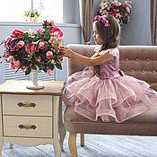Платья ручной работы. Ярмарка Мастеров - ручная работа Пышное короткое платье для девочки. Handmade.