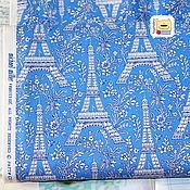 Материалы для творчества ручной работы. Ярмарка Мастеров - ручная работа Ткань мини отрез 20198  Париж (22х27см). Handmade.