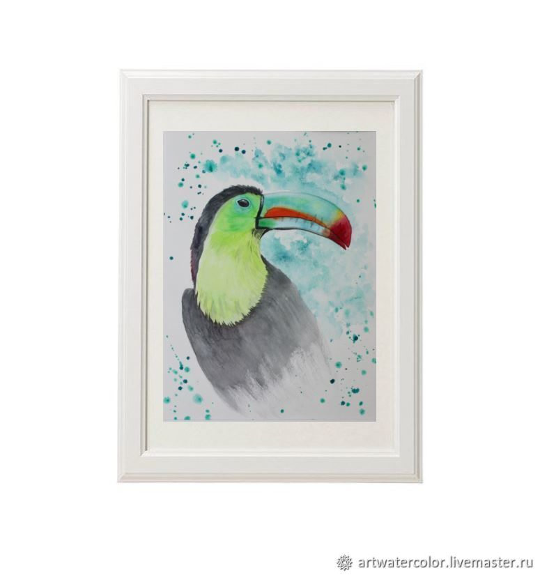 Watercolor painting Toucan Bird watercolor, Pictures, Vidnoye,  Фото №1