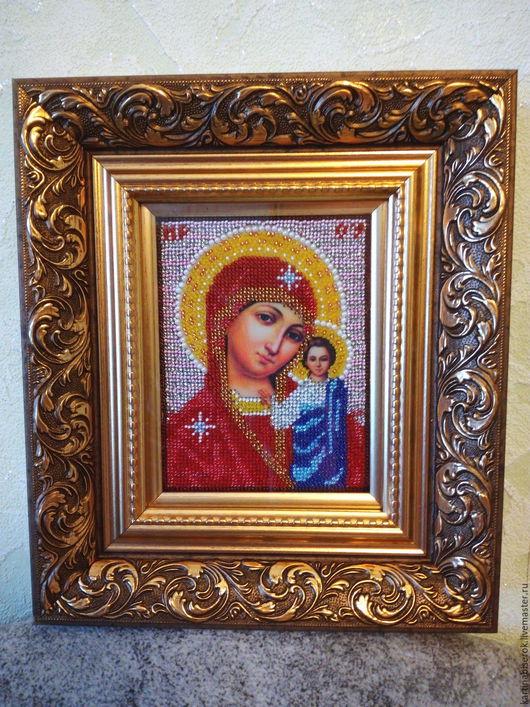 Богородица Казанская вышитая бисером