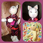 Мягкие игрушки ручной работы. Ярмарка Мастеров - ручная работа Кошка Японка из флиса. Handmade.