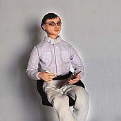 Куклы и игрушки ручной работы. Ярмарка Мастеров - ручная работа Портретная кукла Психолог Психоаналитик. Handmade.