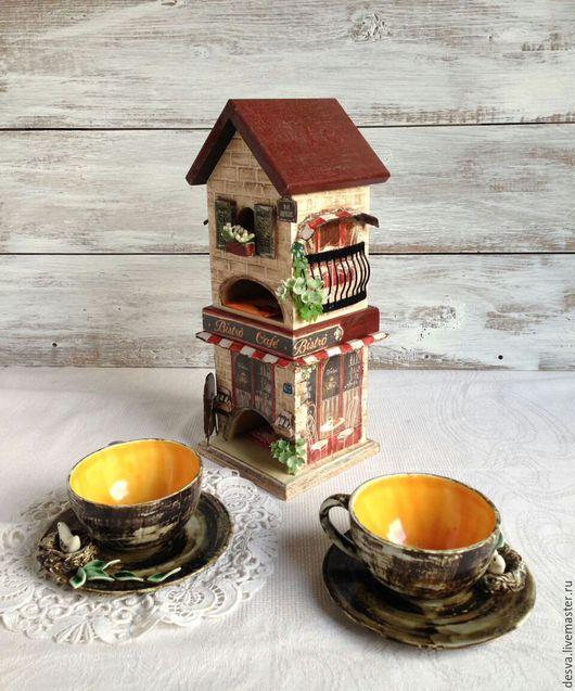 """Кухня ручной работы. Ярмарка Мастеров - ручная работа. Купить Чайный домик """" Итальянское кофе"""". Handmade. Бордовый"""