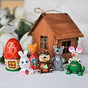 Куклы и игрушки handmade. Livemaster - original item Tale mini-theater in the suspended cabin.5 types. Handmade.