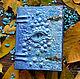 """Блокноты ручной работы. Ярмарка Мастеров - ручная работа. Купить Блокнот №4 из серии """"Драконы"""". Handmade. Голубой, купить блокнот"""