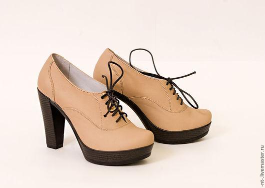 Обувь ручной работы. Ярмарка Мастеров - ручная работа. Купить Туфли для Алёны. Handmade. Бежевый, туфли ручной работы